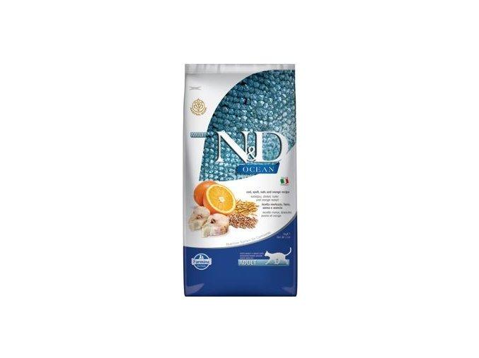 N&D OCEAN CAT LG Adult Codfish & Orange 5 kg