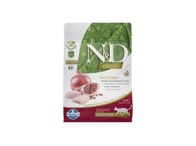 N&D PRIME CAT Neutered Chicken&Pomegranate 300g