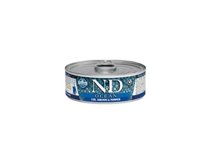 N&D CAT OCEAN Kitten Tuna & Codfish & Shrimps & Pumpkin 80g