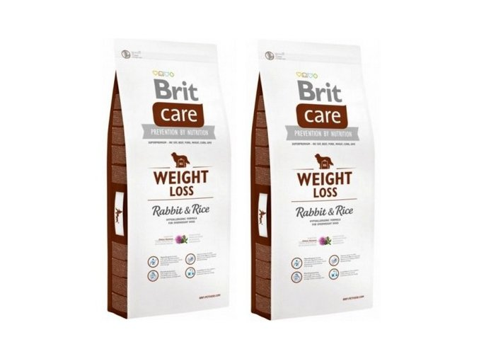 Brit Care Dog Weight Loss Rabbit & Rice 2 x 12kg