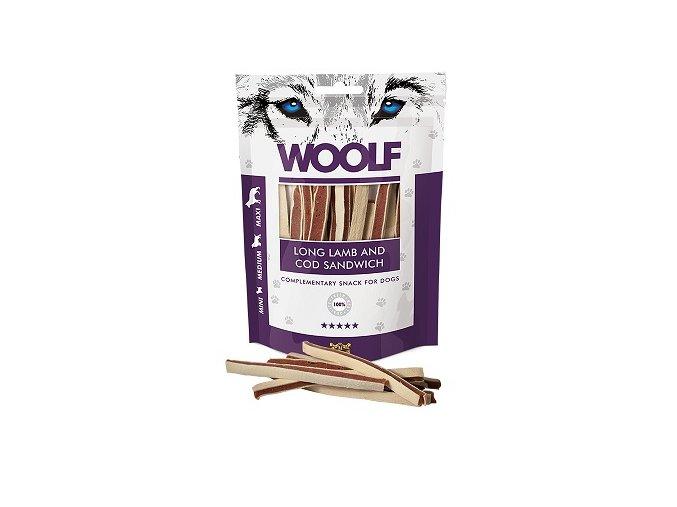 WOOLF pochoutka soft lamb and cod sandwich long 100g