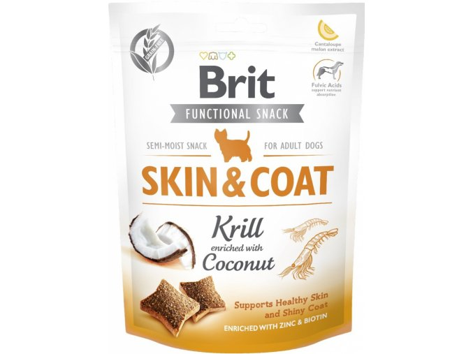 Brit Care Dog Functional Snack Skin&Coat Krill 150g