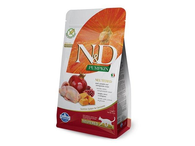N&D GF Pumpkin CAT NEUTERED Quail & Pomegranate 1,5 kg