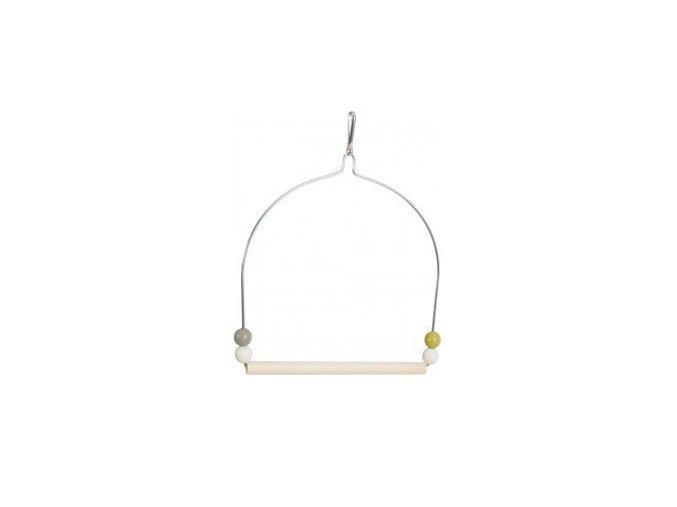 Zolux houpačka pro ptáky dřevo a kov 19,5cm