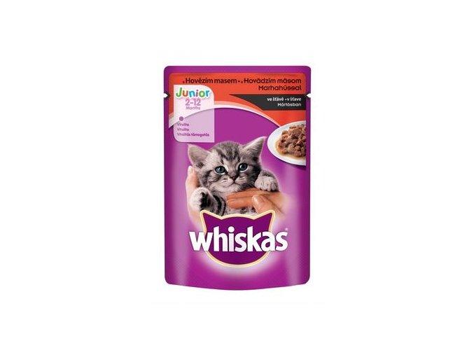 Whiskas Junior hovězí ve šťávě