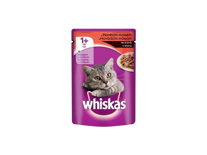 Whiskas adult hovězí ve šťávě