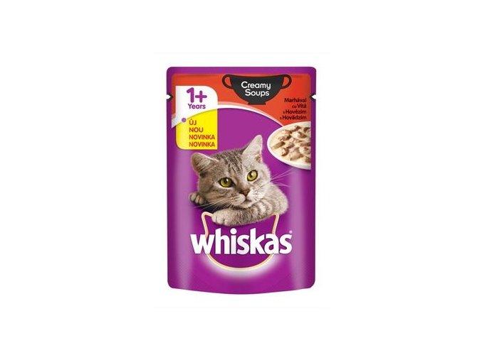 Whiskas adult hovězí v krémové omáčce