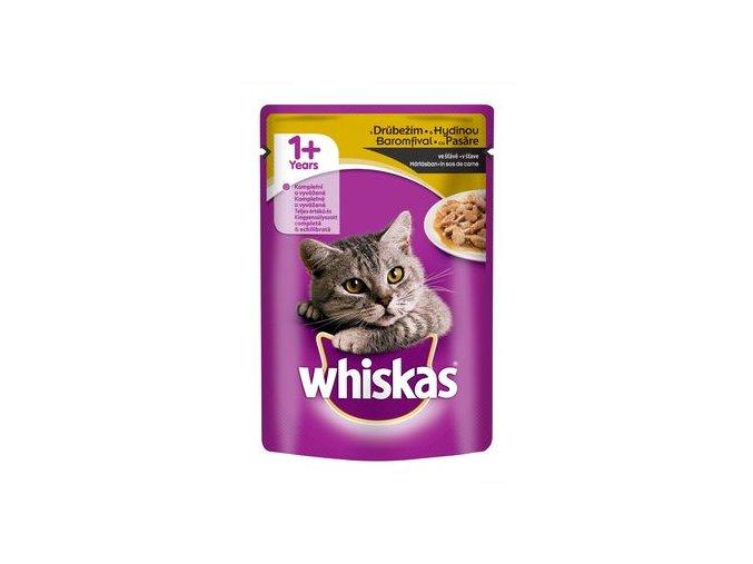 Whiskas adult drůbeží ve šťávě