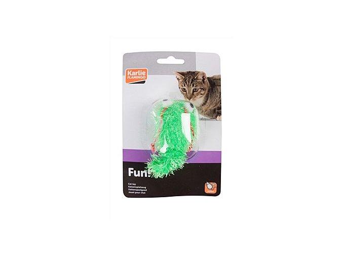 Hračka kočka Had vrtící se natahovací vel.17cm KAR