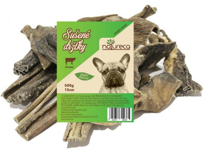Natureca Hovězí dršťky sušené 15 cm 500 g