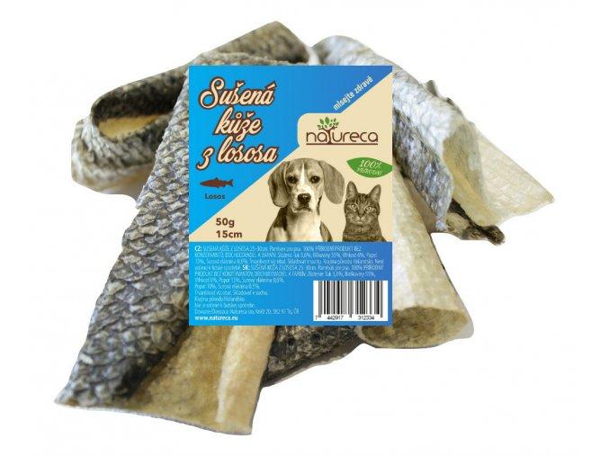 Natureca Losos kůže sušená 50 g