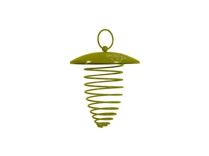 Zolux Krmítko venkovní SPIRAL na loj.koule kov zelená
