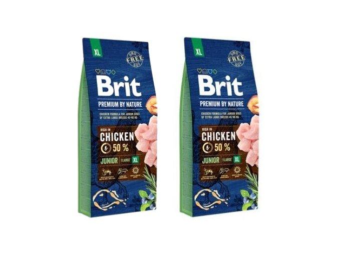 Brit Premium Dog by Nature Junior XL 2 x 15kg