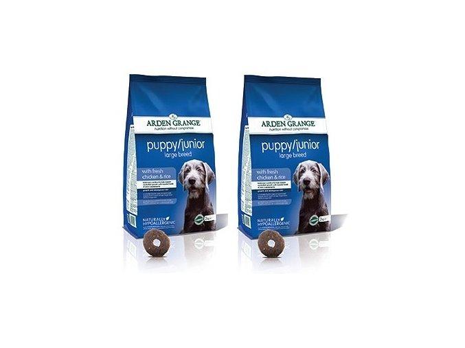 Arden Grange Dog Puppy/Junior Large Breed Chicken & Rice 2 x 12 kg