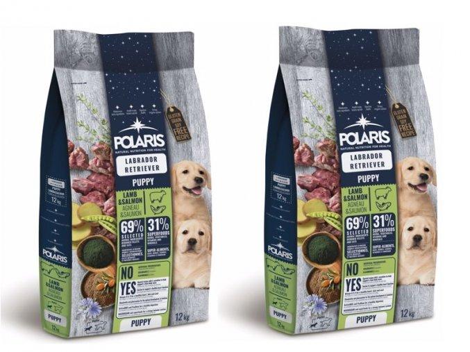 Polaris GF pes Puppy Labrador jehně, losos 2 x 12 kg
