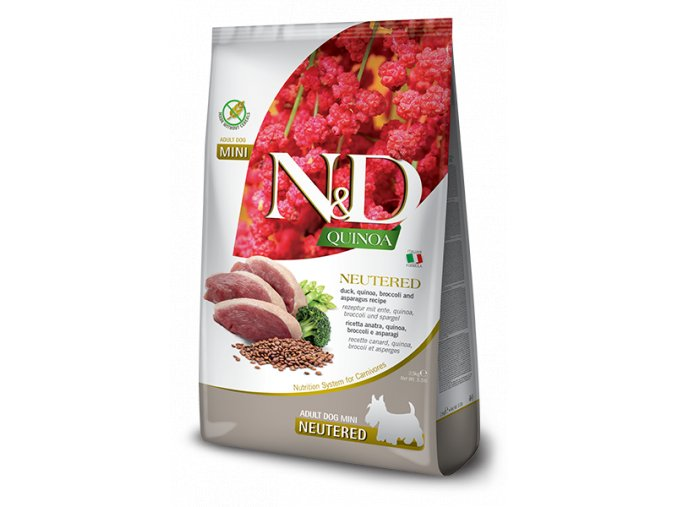 N&D Quinoa Dog Neutered Adult Mini Duck & Broccoli 2,5 kg