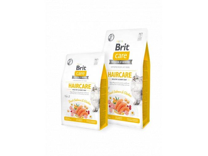 Brit Care Cat GF Haircare Healthy & Shiny Coat 7 kg