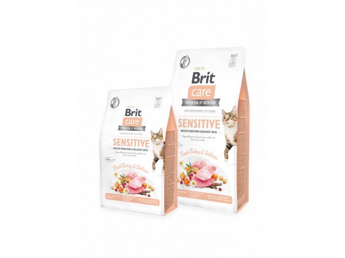Brit Care Cat GF Sensitive Healthy Digestion & Delicate Taste 400 g