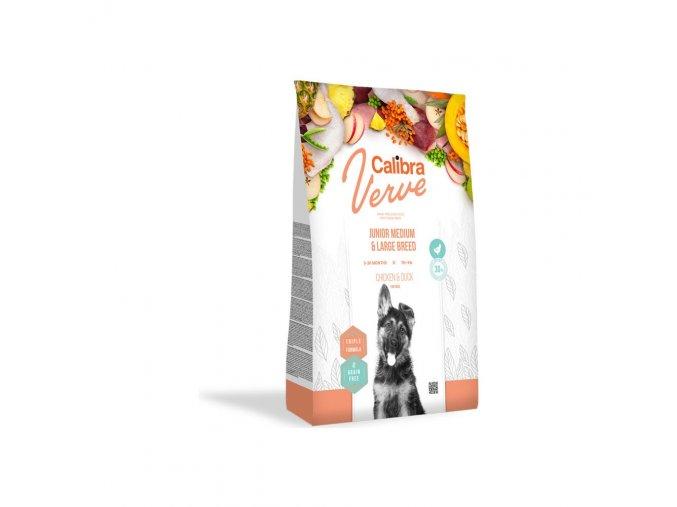 Calibra Dog Verve GF Junior M&L Chicken & Duck 12kg