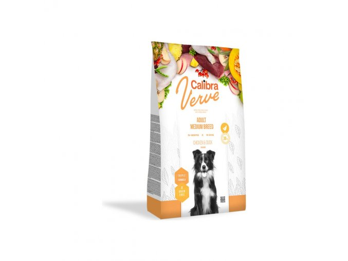 Calibra Dog Verve GF Adult Medium Chicken & Duck 12kg
