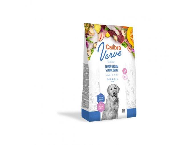 Calibra Dog Verve GF Senior M&L Chicken & Duck 12kg