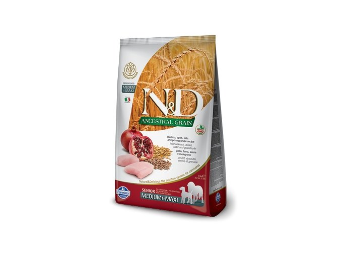 N&D LG DOG Senior M/L Chicken&Pomegranate 12 kg