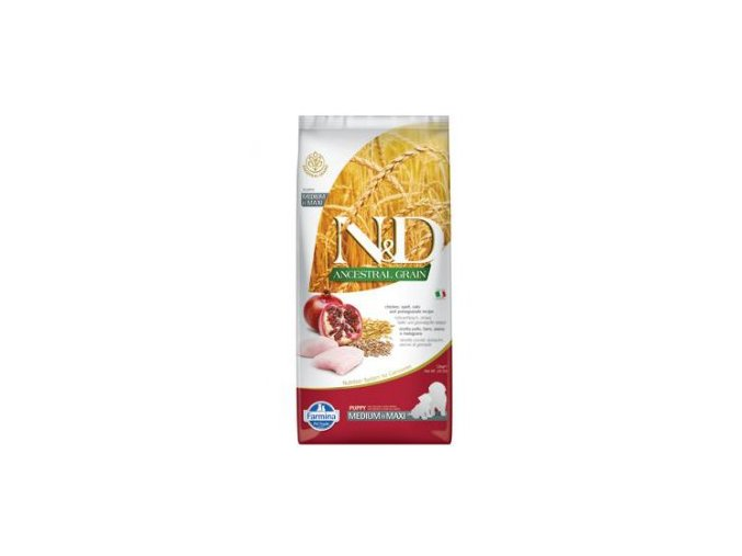 N&D LG DOG Puppy M/L Chicken & Pomegranate 2,5 kg