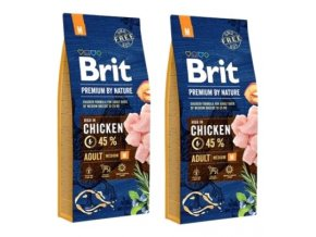 Brit Premium Dog by Nature Adult M 2 x 15kg