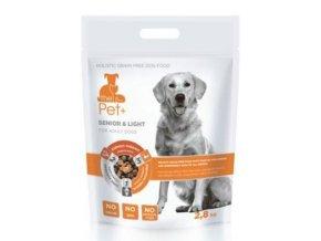 Krmivo Pet+ 3v1 pes SENIOR & LIGHT Adult 2,8 kg