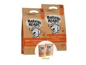 BARKING HEADS Bowl Lickin' Chicken 2 x 12kg  + 2 x BARKING HEADS kapsička 300g