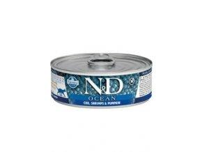 N&D CAT OCEAN Adult Codfish & Shrimps & Pumpkin 80g