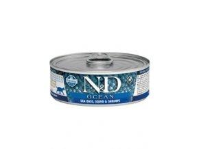 N&D CAT OCEAN Adult Tuna & Squid & Shrimps 80g