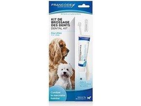 Francodex Dental Kit zubní kartáček + pasta 70g