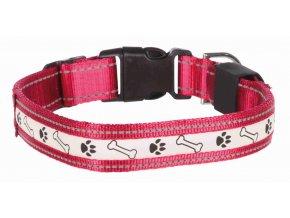 Trixie obojek Svítící pro psa USB 40-50cm/25mm M-L červený