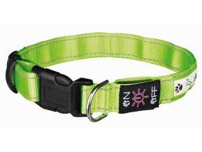 Trixie obojek Svítící pro psa USB 40-50cm/25mm M-L zelený