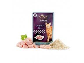 Nuevo Cat sterilized drůbeží s rýží 85 g