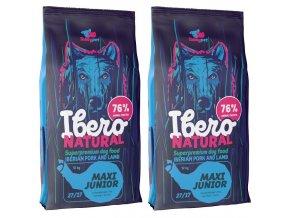 Ibero Natural dog Maxi junior 2 x 12 kg