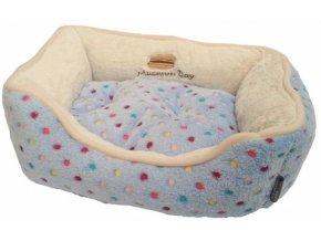 Pelíšek s puntíky Extra soft Bed XS 47cm-modrá