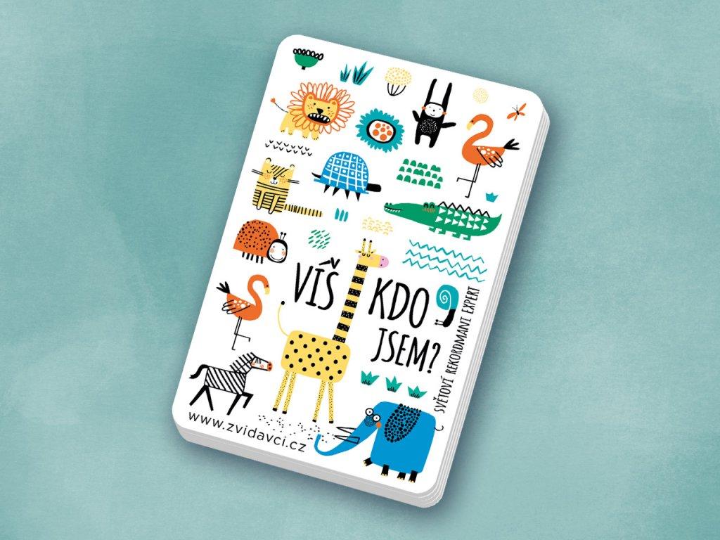 Kartičková vzdělávací hra o zvířatech Světoví rekordmani Expert. Zvířecí rekordmani pro znalce.