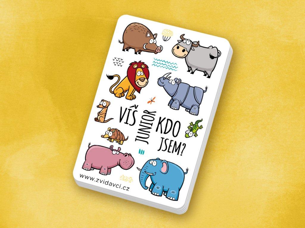 Kartičková edukativní hra o zvířatech Junior. Názvy mláďat i rodičů, krásné fotografie. Zkrátka zábavná hra pro rozvoj řeči.