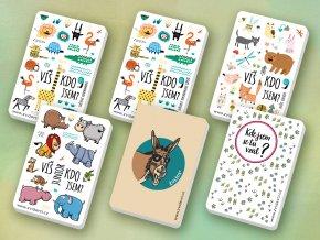 Kartičková hra o zvířatech - Zvídavci. AKCE vyberte si ideální kombinaci pro svou rodinu a ušetříte stovky korun. Sleva oproti koupi jednotlivých balíčků až 20 procent.