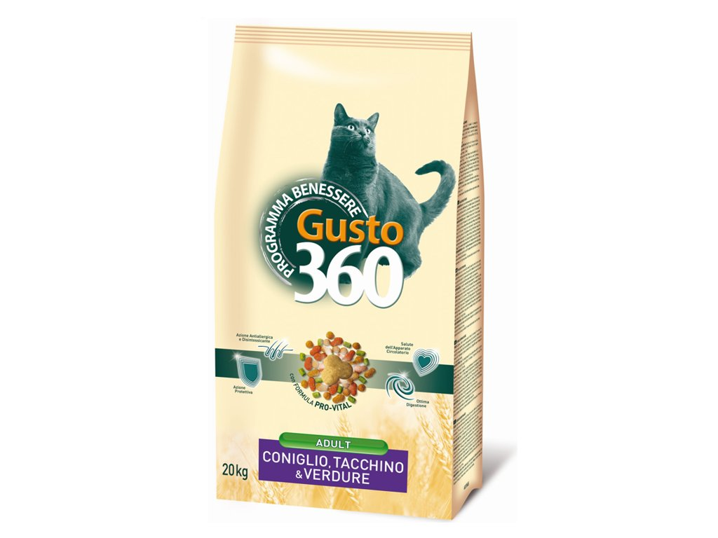 gusto cat adult mix kralik kruta zelenina