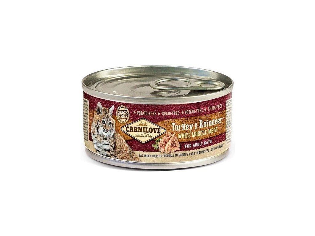 7749 carnilove wmm turkey reindeer for adult cats 100g