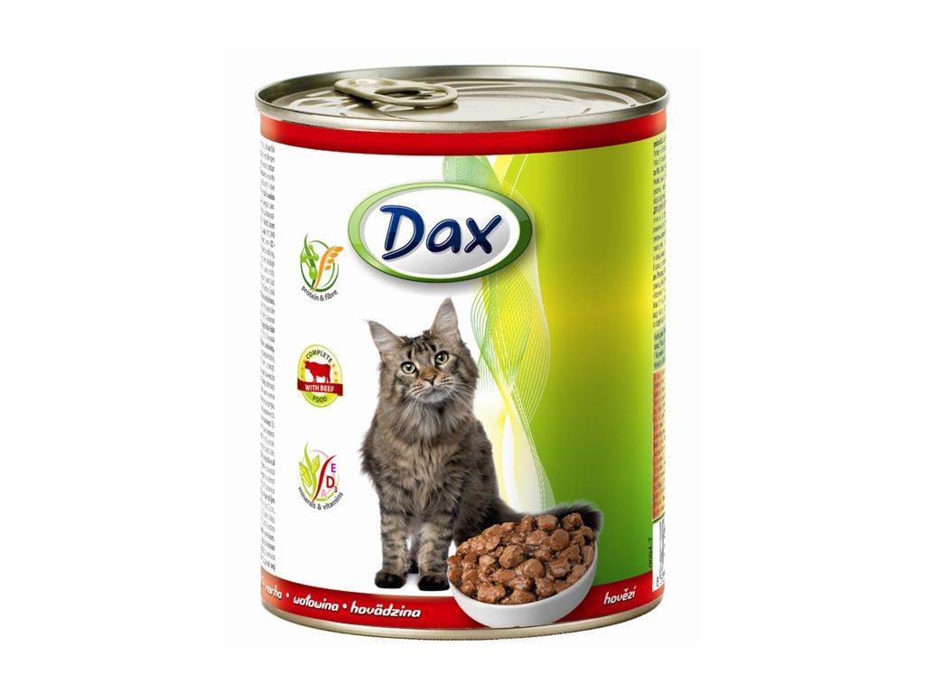 dax konzerva pro kocky 830g hovezi