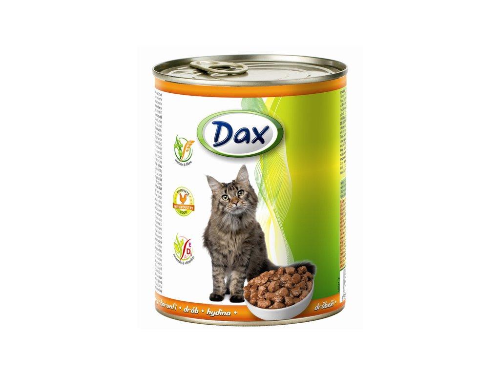 dax konzerva pro kocky 830g drubezi