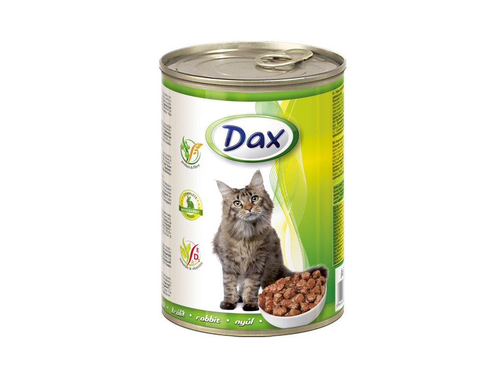 dax konzerva pro kocky 415g kralik