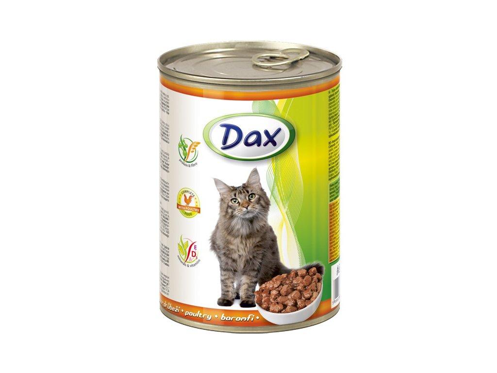 dax konzerva pro kocky 415g drubezi