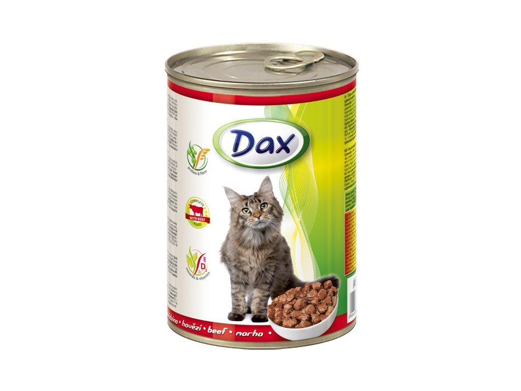 dax konzerva pro kocky 415g hovezi