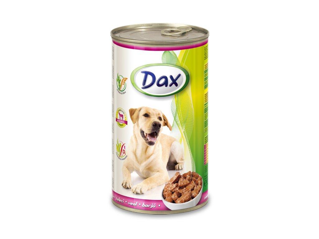 dax konzerva pro psy 1240g teleci