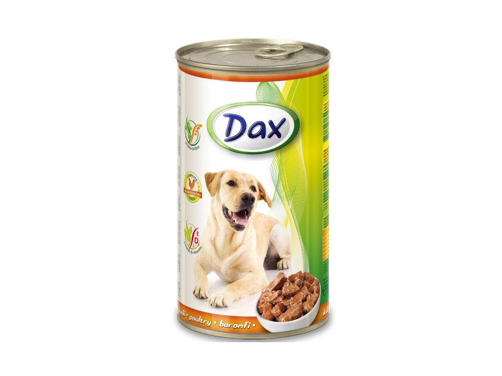 dax konzerva pro psy 1240g drubezi